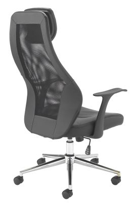 Fortran Executive Mesh Chair Rear Angle View