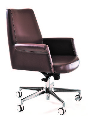 Andy Medium Back Executive Chair Angled View