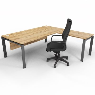 ASTROBE66 - Executive Desk + Extension - Timber + Raw