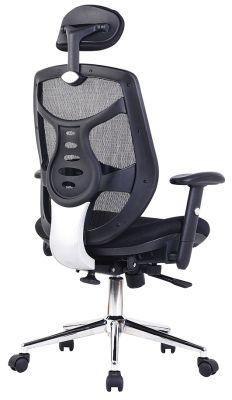 Empuria Black Mesh Chair Rear Angle View