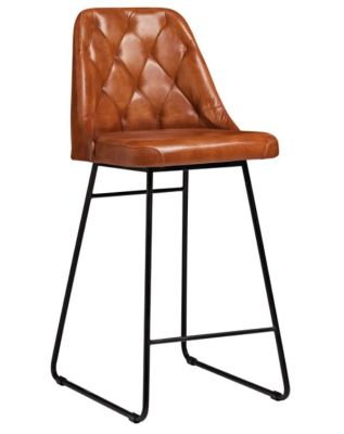 Harland Genuine Leather Bar Stool