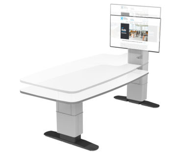 Quad Height Adjustable Multimedia Conference Table