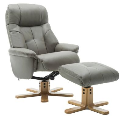 Denver Luxury Recliner - Grey Leather