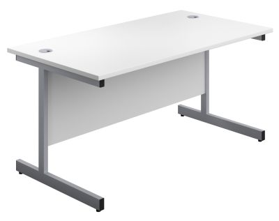 Abacus Shallow Rectangular Desk In White