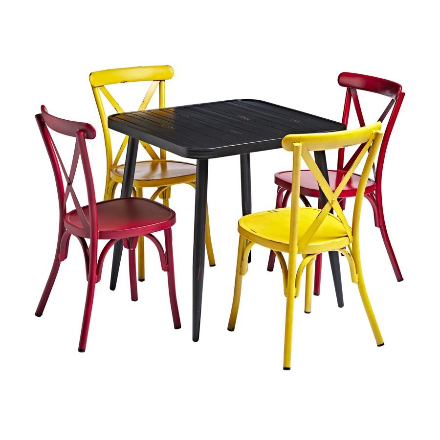 An image of Julia Outdoor Bistro Table & Side Chair Set - Bundle 2