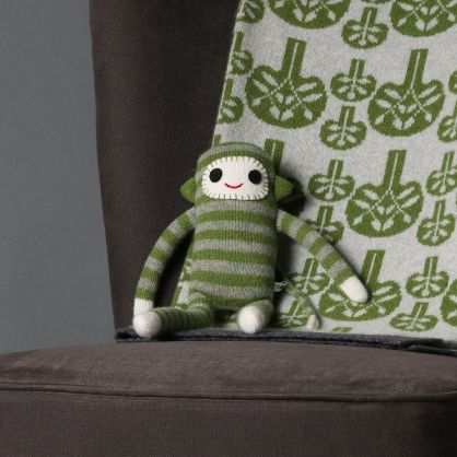 Sally Nencini green stripy monkey
