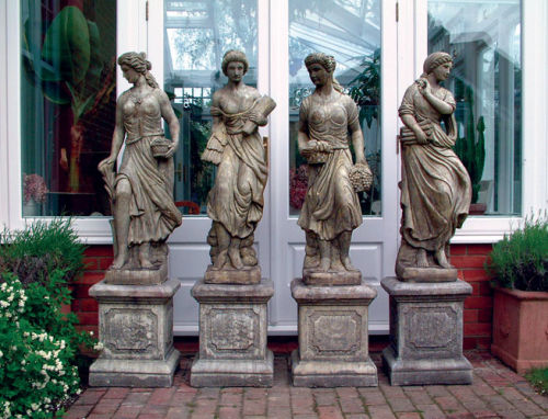 Four Large Maidens on Plinths