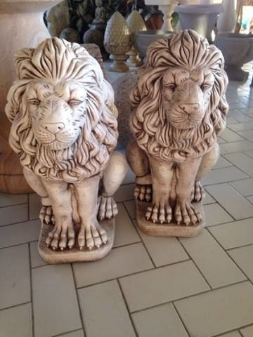 Large Sitting Lions