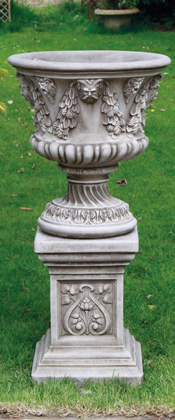 Derby Urn on Plinth