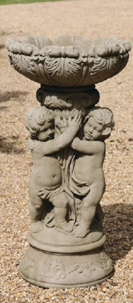 Three Cherubs Bird Bath