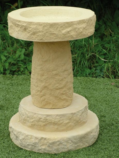 Rough Stone Bird Bath