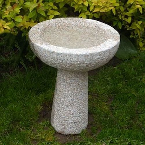 Granite Round Bird Bath