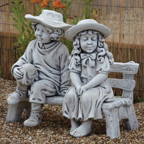 Boy & Girl on Bench