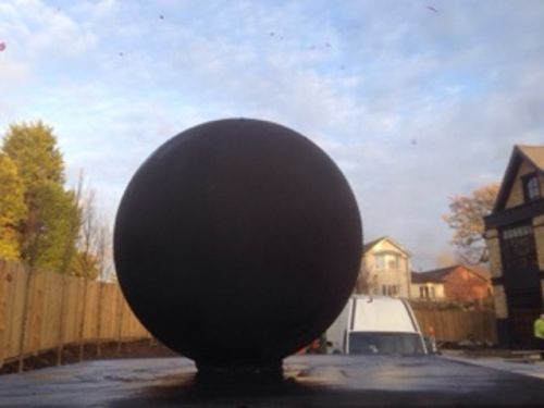 Black Stone Ball - 40cm