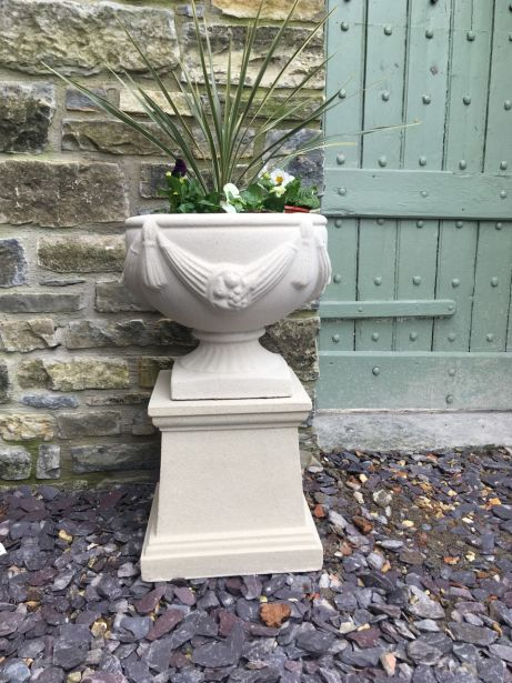 Chalice Urn on Plain Plinth