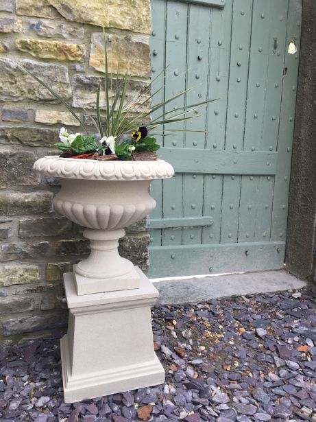 Florentine Urn on Plain Pedestal