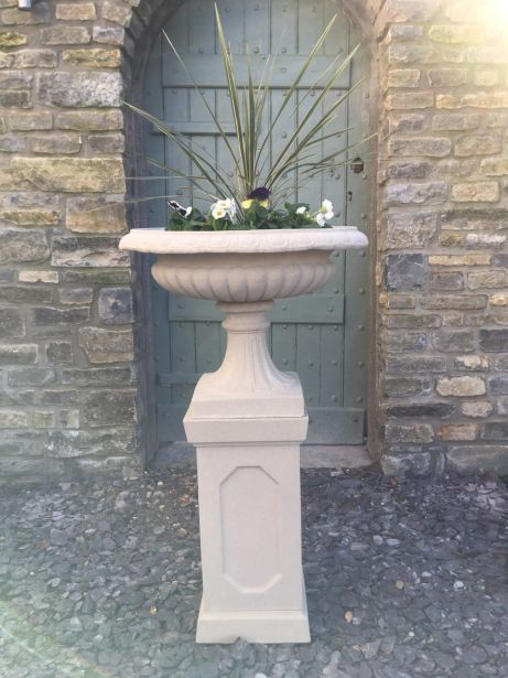 Tiffany Urn on  Abbey Plinth