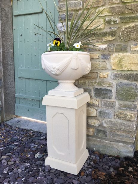 Buckingham Urn on Abbey Pedestal