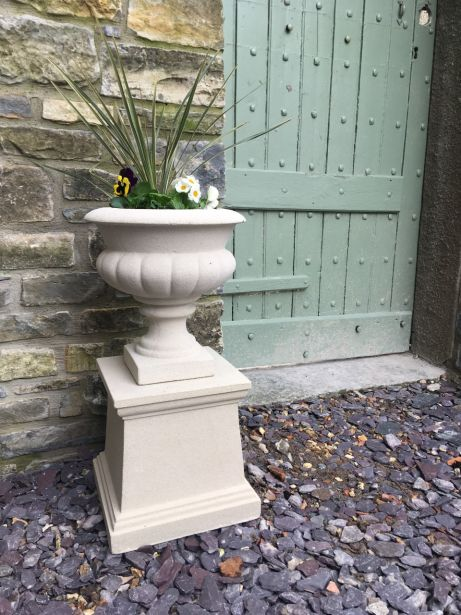 Italian Urn on Plain Pedestal