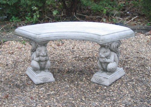 Squirrel Curved Bench