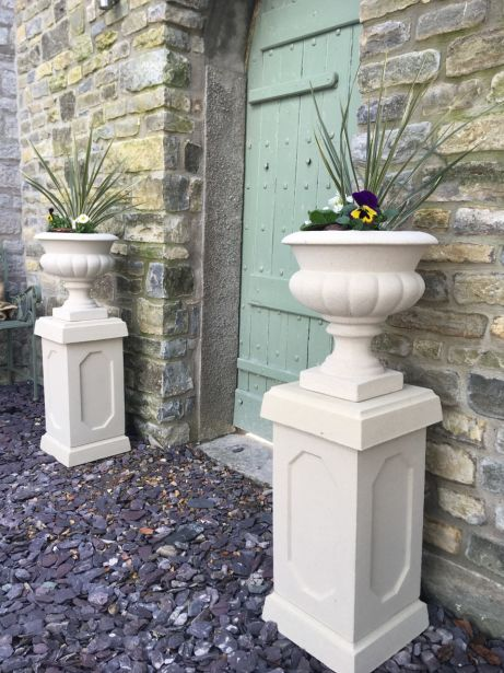 Italian Urns on Abbey Plinths