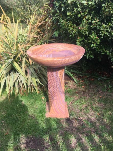 Large Sandstone Bird Bath