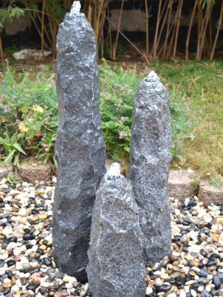 Drilled Granite Rock Set