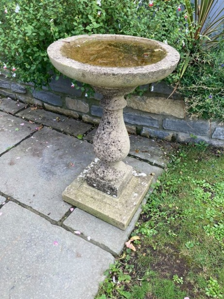Reclaimed Bird Bath