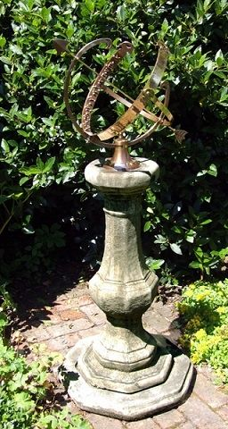Classic Pedestal with Large Armillary