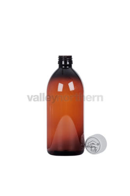 Pharmasafe® Amber PET Ready Capped Bottles - 500ml