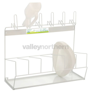 Confidence® White Urinal/Bedpan Rack
