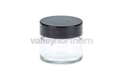 Clear Glass Ready Capped Ointment Jars 15ml