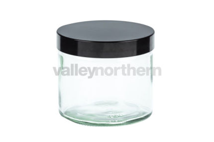 250ml Clear Glass Ready Capped Ointment Jars