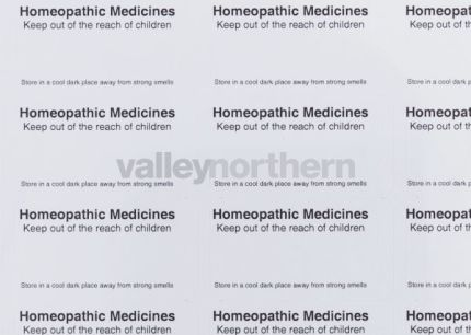 Status® Homeopathic Printed Labels