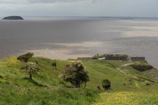 View of Palmerston Fort at Brean Down by Vicky Banham for Visit Somerset
