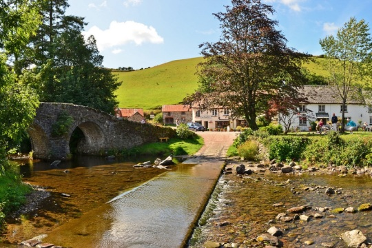 Malmsmead Bridge with tea rooms open in the summer, image supplied by Exmoor National Park Authority