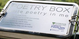 Hidden poetry boxes revealing hidden talents