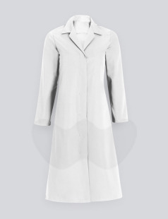 White Womens Food-Trade Coat, 210gsm