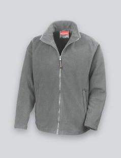 Grey Polyester Microfleece