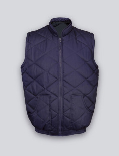 Navy Quilted Body Warmer