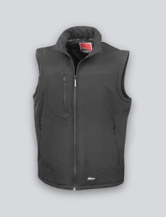 Black Softshell Body Warmer