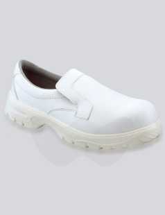 White Slip On Microfibre Safety Shoe