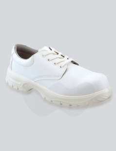White Lace-Up Microfibre Safety Shoe