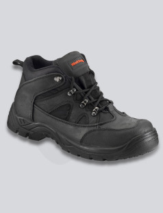 Black Worktough Mid Cut Safety Boot