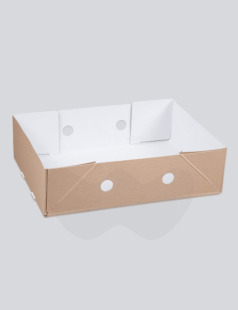 Solid Board Cucumber Base & Lid Box, 310x505x100mm