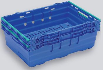 Blue Maxinest Plastic Crate, 600x400x199mm